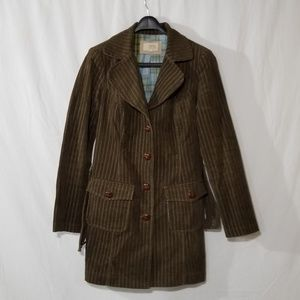 Zinc corduroy brown coat with front pockets